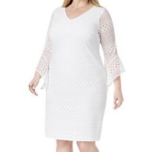 Alfani NWOT White Lace Boho Dress Knee Length